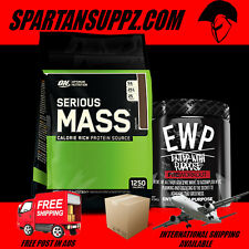 OPTIMUM NUTRITION SERIOUS MASS 12LB GAINER & RUN EVERYTHING LABS EWP PRE WORKOUT