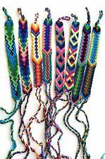 Hand woven Silk Friendship Bracelets, Wholesale Lot of 16, Soft, Flat, Wristband