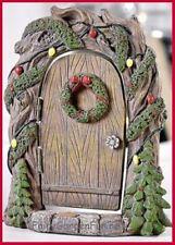 Fairy Garden Fun Christmas Fairy Door Rounded Holly Miniature Dollhouse GC969