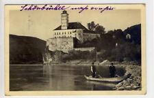 AK Schönbühel, Wachau, Schloss, Ruderboot, 1914