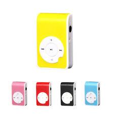 Mini Clip Metal USB MP3 Player Support Micro SD TF Card Music Media 2018