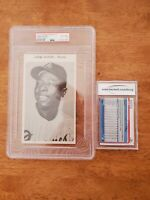 1970 ATLANTA BRAVES TEAM ISSUE HENRY HANK AARON HOF JUMBO PSA 6 MINT POP 4 2higr