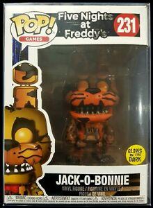 Jack O Bonnie 231 Five Nights At Freddys Funko Pop Vinyl +Protector  GLOWS