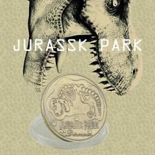 WR Jurassic Park Dinosaur Fossil Bronze Coin Birthday Christmas Gifts for Boys