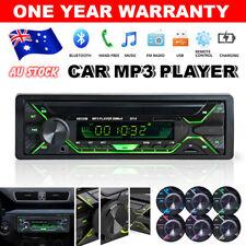 Bluetooth In-dash Car Stereo FM Handsfree 1din Audio Radio Mp3 Player AUX USB SD