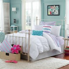 Julissa Dreamzzz White Full/Queen 3 Pc Comforter mini Set Gathered Ruched