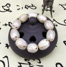 Natural Bodhi Seed Beads White Mala Prayer Bracelet Bangle Unisex Wild Cool New
