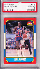 Isiah Thomas Pistons HoF 1986-87 Fleer #109 Rookie Card rC PSA 8 No Qualifiers!