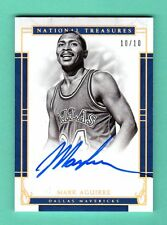 MARK AGUIRRE 2016-17 NATIONAL TREASURES AUTOGRAPH AUTO SP # 10 / 10 MAVERICKS
