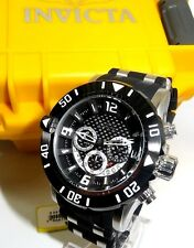 Invicta Black Rubber Stainless Steel Mens Pro Diver Chronograph 50mm Watch 23696