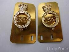 2x Militare Inglese Army QC Granatiere Protezioni Anodizzato Spalla Distintivi