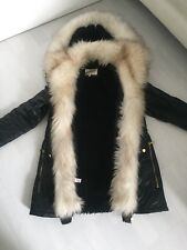 River Island Stunning Parka Parker coat Jacket Faux Fur Front And Hood Size 12