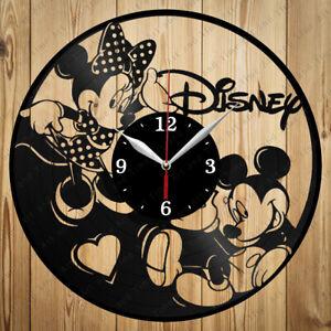 Vinyl Clock Walt Disney Vinyl Clock Handmade Art Decor Original Gift 3866