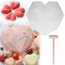 3D Silicone Large Heart Shape Cake Mould Geometric Baking Mold Tool Chocolate UK