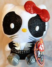 TY HELLO KITTY - KISS - CATMAN BEANIE BABY - NEW with MINT TAGS
