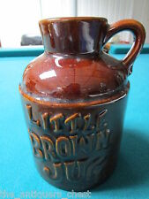 """Haeger Pottery's Little Brown Jug Made in the USA Moonshine Jug 6 x 4 1/4""""[*]"""