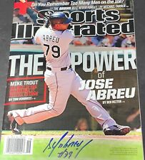 Jose Abreu Chicago White Sox Autographed Signed Sports Illustrated No Label