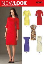 NEW LOOK SEWING PATTERN Misses' RETRO DRESS  SIZE 4 - 16 6000