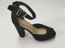 NUDE APPLE BLACK SUEDE HIGH HEEL PUMP SHOES SIZE 38 RRP $149.95 NEW IN BOX
