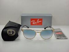 RAY-BAN SIGNET SUNGLASSES RB3429M 001/3F GOLD/LIGHT BLUE GRADIENT LENS 55MM