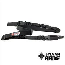Two Point Rifle Tactical Gun Sling Military Black Adjustable Black by Sylvan