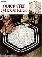 Quick Step Q-Hook rag Rugs crochet patterns using yarn, quick, easy, fun LA3068