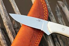 Custom D2 Steel & Camel Bone Hunting Knife (Bird & Trout) by DCKC FREE Fast Ship