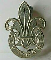 1950's boy Scout patrol leaders Cap Badge White Metal 46 x 34 mm