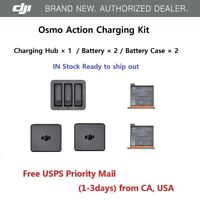 DJI OSMO Action Camera Battery Charging Kit Charger Hub + Battery x 2 + Case x 2