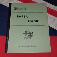 Vintage Magic Tricks Stage Illusions Instructions Books - Paper Magic by Supreme