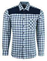 Mens Cotton Blend Long Sleeve Soft Flannel Check Lumberjack Shirt £14.99 (491)