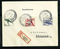 Germany Stamps # B79-81 FDC on Registered Cover