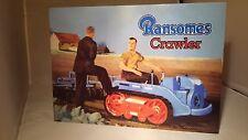 Ransomes MG Crawler display board. Rally sign. Workshop, Garage