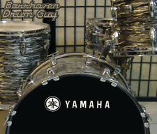 Yamaha, 70s Vintage, Repro Logo - Adhesive WHITE Vinyl Decal for Bass Drum Head