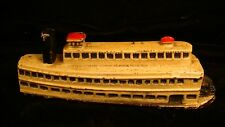 Antique Cast Iron Riverboat Paddleboat Advertising Paperweight Souvenir