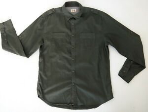 JAG Mens Olive Green Military Style Shirt Size M Long Sleeves Regular Fit EUC