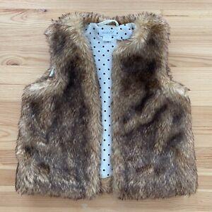 MUD PIE Furry Vest Size 2T-3T