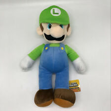 "New Super Mario Bros. Plush Soft Toy Luigi Stuffed Animal Doll Teddy 16"" BIG!!"