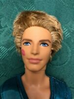 """Ken Doll Barbie 2009 12"""" with Blonde ROOTED HAIR & LIPSTICK KISS on CHEEK Mattel"""