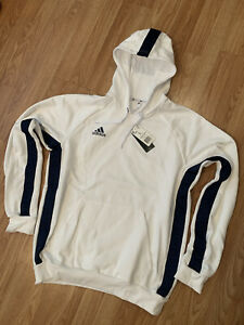 Adidas Men's Tan H SW Hoody Sweatshirt Men's Size Large NWT White (FP7895)