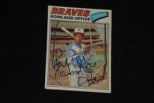 ROWLAND OFFICE 1977 TOPPS SIGNED AUTOGRAPHED CARD #524 ATLANTA BRAVES