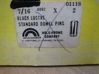 7/16 X 2 DOWEL PIN BLACK LUSTRE HOLO-KROME 01118 15 PCS (LL1377)