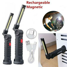 Wiederaufladbare COB LED Work Light Lampe Taschenlampe Inspect Faltbrenner A++