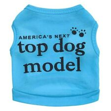 "Lovely Print ""America's top dog model"" Pet Dog - SMALL Size/BLUE"