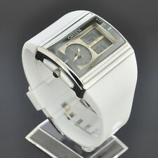 New OHSEN White LED Day Date Analog Digital Quartz Womens Bracelet Watch W16W