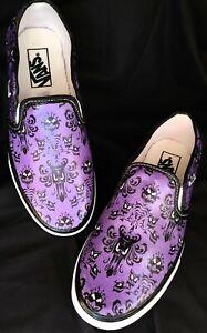 VANS haunted mansion inspired Shoes Custom Hand Detailed Slip On Women's