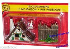 Le VILLAGE d'ASTERIX n° 33 figurine IELOSUBMARINE poissonière une maison PLASTOY