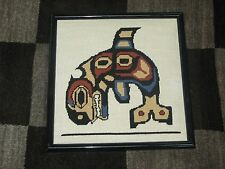 "Needlepoint Hand Made Stitched Framed 12"" x 12"" - 11"" x 11"" Southwest Theme"