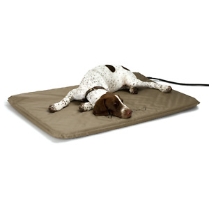 Heated Dog Bed Large Soft Orthopedic Pad Indoor Outdoor Kennel House Warmer Mat
