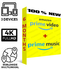  6 MONTHS AMAZON PRIME VIDEO + PRIME MUSIC  WORLDWIDE   FAST DELIVERY  